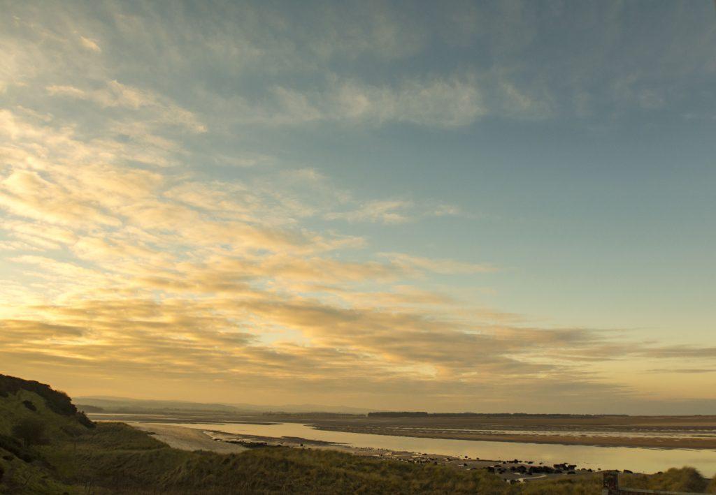 Budle Bay sunset, Northumberland, Stablewood Coastal Cottages