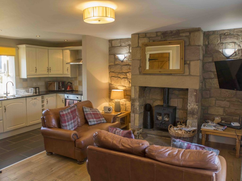 Self-catering cottage in Northumberland, Chaffinch cottage kitchen diner