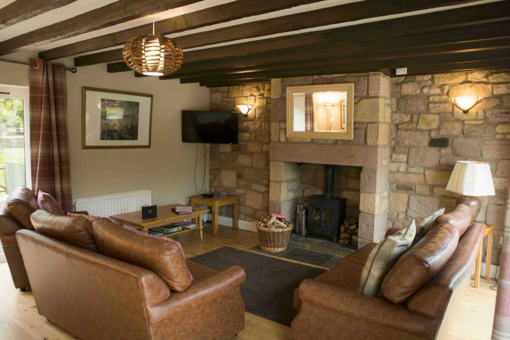 Self-catering cottage in Northumberland, Goldfinch cottage living room