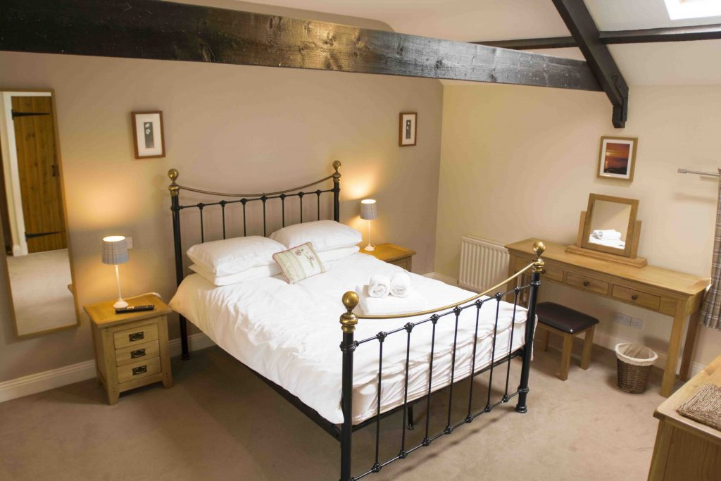 Self-catering cottage in Northumberland, Goldfinch cottage master bedroom