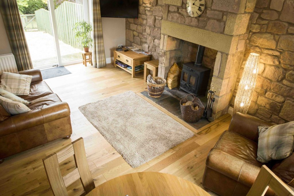 Self-catering cottage in Northumberland, Greenfinch cottage living room