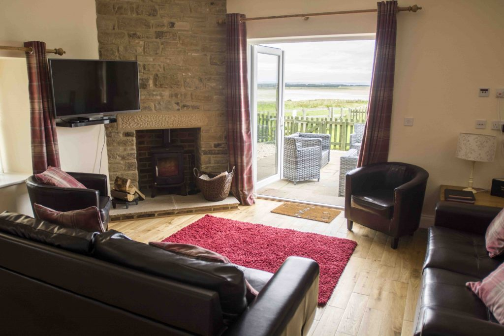 Self-catering cottage in Northumberland, Pippistrelle cottage living room view